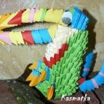 Tukan- origami modułowe