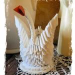 Łabędź origami