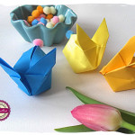 Króliczek z origami DIY