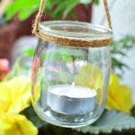 Lampiony ze słoiczków po jogurtach DIY