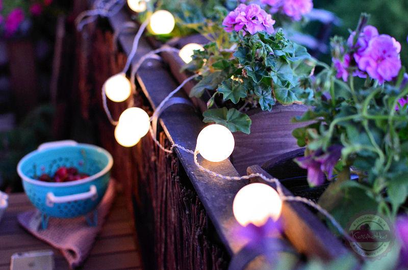 Balkon wieczorem