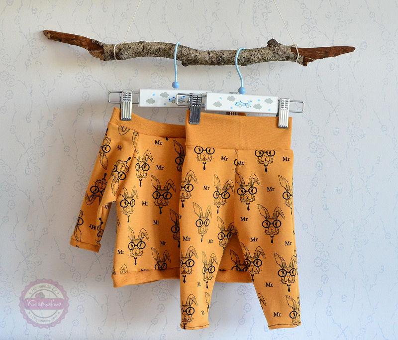 Bluzeczka niemowlęca z dresówki