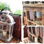 Drewniany lampion